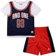 And1 Baby Toddler Boy Graphic Tee & Shorts Sporty Outfit Set, Size: 5 Years, White