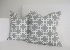 CLOSING SALE  Pillow Covers  Gray Pillow Covers  by skoopehome, $25.00