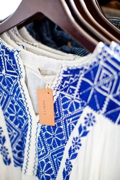 I've always loved the blue/white embroidery....embroidered blusa's from Oaxaca