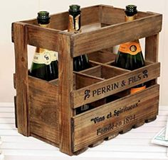 Featuring a wide range of French home accessories Dibor has country style accessories for any room perfect for adding a touch of rustic French home decor. Rustic French, French Farmhouse, French Home Decor, Bottle Holders, Wine Rack, Crates, Home Accessories, French Style, Amazon