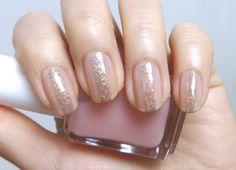 Simple Glitter Line Nails | Lenallure