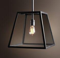 Boston Filament Vintage Industriele Hanglamp Glas Zwart