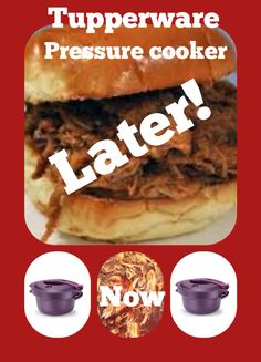 Tupperware pressure cooker! 30 minutes and on micro wave pressure cooker with five full-size chicken breasts and only barbecue sauce! AMAZING!!! Www.michelleathome.com #Barbecuechicken #Pressurecookerchicken #Easymeals