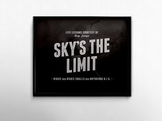 Skys The Limit Rap Lyrics Quotes Hip Hop Music Biggie