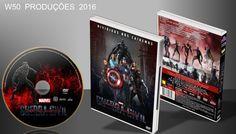 Capitão América - Guerra Civil - DVD 3 - ➨ Vitrine - Galeria De Capas - MundoNet | Capas & Labels Customizados
