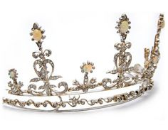 Modern diamond and opal tiara by Richard Cowell