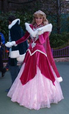 Princess Aurora, I love her winter dress!