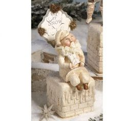 Bethany Lowe Christmas Gift Santa on Chimney DF9547 in Collectibles | eBay
