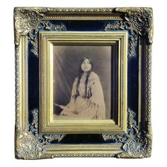 """By Carl Moon - signed Goldtone; Taos, 1914, her name is Albida. Published in """"In Search of the Wild Indian"""" by Tom Driebe (Original frame), page 160. A copy of"""