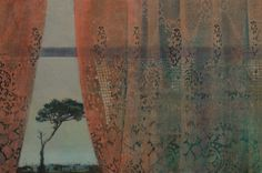"""Saatchi Art Artist: Frances Ryan; collage 2013 Painting """"Station View - SOLD"""""""