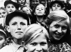 The faces of Jewish children living in a ghetto in Szydlowiec, Poland, under Nazi occupation, on December 20, 1940.