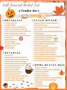 fall bucket list This post may contain affiliate links, meaning, at no additional cost to you, I may receive a commission if you click a link to make a purchase. While clicking these l Pumpkin Bread Mix, Gluten Free Pumpkin Pancakes, Pumpkin Spice Latte, Pumpkin Waffles, Shopping List Grocery, Grocery Haul, Fun Fall Activities, Fall Treats, Fall Halloween