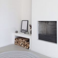 ...White + FirePlace...