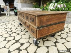 Crafty In Canada Card Catalog Turned Coffee Table Go To The Source