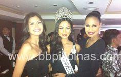 Miss Universe Philippines Winners (2011) Shamcey Supsup (2013) Ariella Arida (2010) Venus Raj at the Samsonite Product Launch