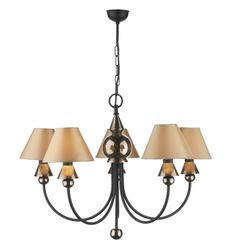 PP57 - SPEARHEAD 5LT BRONZE PENDANT SHOWN WITH S3628 HONEY SHADES