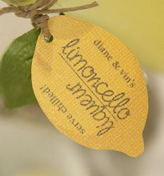 Limoncello Lemon Favor Tag - Set of 20. $30.00, via Etsy.