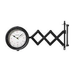 Reloj extensible doble esfera de metal negro Diám. 45 cm HAMILTON