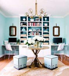 See more images from before & after: a perfectly productive home office (for 2!) on domino.com