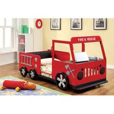 Found it at Wayfair - Hokku Designs Fire Engine Twin Bedhttp://www.wayfair.com/Hokku-Designs-Fire-Engine-Twin-Bed-JEG-8878-XHX2038.html?refid=SBP