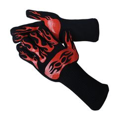 Seeway® heat resistant bbq gloves with grip silicone coated outer not only protect your hands from hot coals and other heat sources, but also give you enough dexterity to handle tongs and knives.
