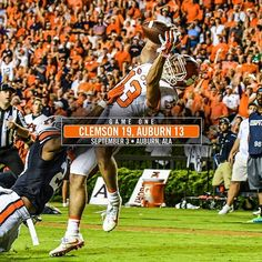 "12 Ways to Win || #Clemson put together a 10-3 lead at halftime and hung on down the stretch in front of 87,451 fans at Jordan-Hare Stadium. Clemson used consecutive pass deflections from safety Jadar Johnson on ""Hail Mary"" pass attempts by Auburn to pull off the program's first win at Auburn since 1950. Clemson's defense stood up to the challenge of facing Gus Malzahn's proficient offensive attack, with three sacks and interceptions by Johnson and linebacker Ben Boulware. Hunter Renfrow…"