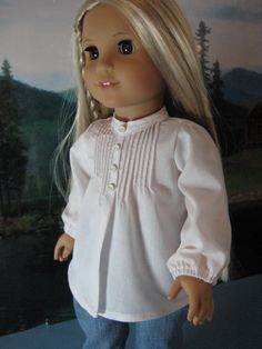 18 inch Doll Clothes American Girl Pintuck Peasant Blouse for Julie on Etsy, $12.00