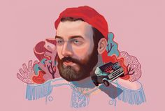 German Gonzalez - Colorful Illustrated Portraits2 – Fubiz Media