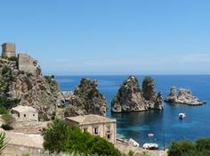 Sicily - this is practically the view out of Scott's old apartment there... :(  Makes me a little homesick.