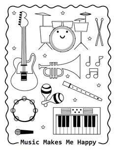 Top 10 Free Printable Music Notes Coloring Pages Online | Music ...