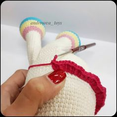 In this article we will share amigurumi rainbow amigurumi free crochet pattern. You can find everything you want about Amigurumi. Crochet Unicorn Pattern, Crochet Patterns Amigurumi, Crochet Dolls, Crochet Bear, Free Crochet, Knitted Animals, Rainbow Unicorn, Yarn Colors, Single Crochet