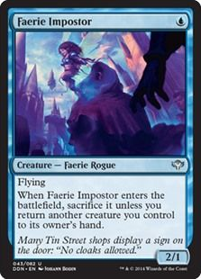 Faerie Impostor (Return to Ravnica) - Gatherer - Magic: The Gathering Mtg Decks, Sign Display, Magic The Gathering Cards, Alternative Art, Collector Cards, Magic Cards, Wizards Of The Coast, Summoning, Deck Of Cards