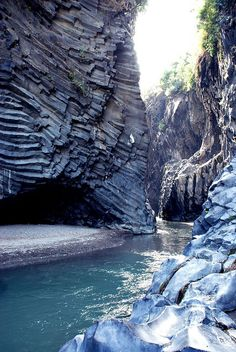 Gole dell'Alcantara, Messina, Sicily, Italy