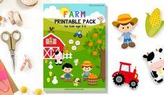 Farm Printable Pack | Free activity sheet for Pre-K, K1 & K2. Read more @malaysianmom.com
