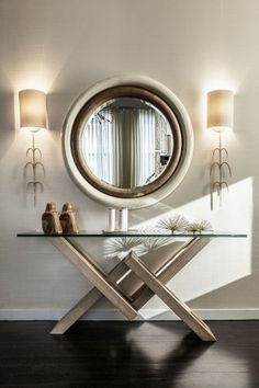 ELEGANT HALLWAY. CHECK OUT 10 BEST MODERN CONSOLE TABLES FOR LUXURY INTERIOR DESIGN PROJECT at http://www.homedesignideas.eu/best-modern-console-tables-luxury-interior-design-project/