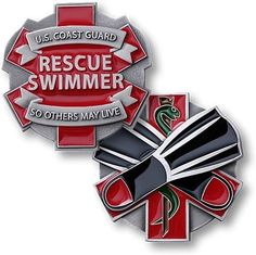 Coast Guard Rescue Swimmer Challenge Coin USCG United States So Others May Live