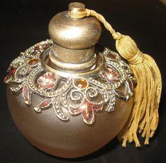 vintage perfume bottles from 1920 | Vintage Collectible ART DECO Edwardian Perfume bottle circa 1920s