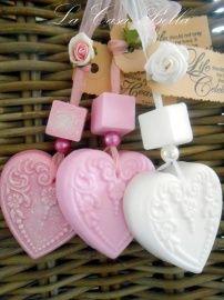 Zeepketting Victorian Heart per 10 stuks