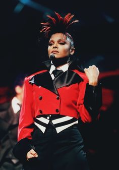Janet Jackson Velvet Rope Tour Red Suit