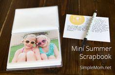 Create a Mini Summer Scrapbook - simple as that