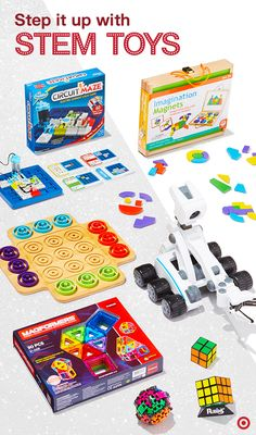They say knowledge is power. But it's also a lot of play. Enter STEM toys, designed to make learning science, technology, engineering and math tons of fun. These gifts challenge creative thinking, help develop problem solving, introduce kids to coding and more. Smart, right? Good news: there are a bajillion more to inspire your holiday gift-giving. Click through to find what clicks for every age and interest.