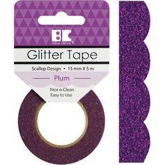 Plum Scallop Best Creation Designer Purple Glitter Tape