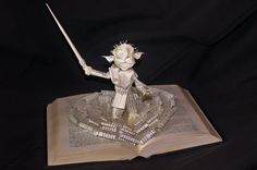Yoda Book Sculpture by wetcanvas.deviantart.com on @deviantART