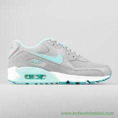 "lojas de chuteiras baratas Prata/hiper Turquoise-Dusty Cactus ""hiper Turquoise"" 616730-011 Nike Air Max 90 Essential Mulheres"
