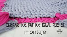 Un truco para que al cerrar los puntos queden igual que el borde del montaje, ideal para los proyectos tejidos en Punto Bobo, Musgo o Santa Clara, como bufan...