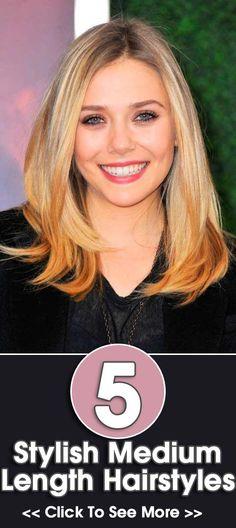 Stylish Hairstyles For Medium Length Hair