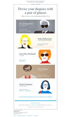 Halloween from Warby Parker - email Email Marketing Design, Email Design, Email Layout, Ghost World, User Flow, Swipe File, Warby Parker, Best Email, Email Campaign
