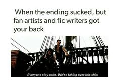 YAAAAAAAA, I laughed at this cus they are just unknown people to most that are taking over the ship xD