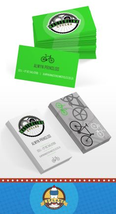 Different Business Card Concepts with Logo Development for Masterlink Cycles, Secunda {Full Colour Double Sided Print}