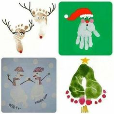 Making Christmas cards with a toddler